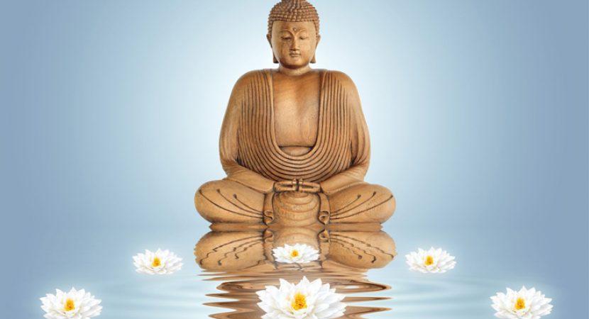Símbolo de flor de loto a flor del budismo